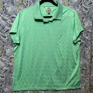 ADIDAS Womens XXL Green Climacool Polo